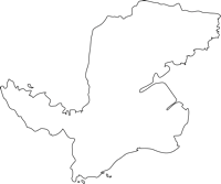 長崎県諫早市(いさはやし)の白地図無料ダウンロード