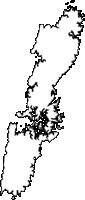 長崎県対馬市(つしまし)の白地図無料ダウンロード