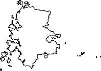 長崎県壱岐市(いきし)の白地図無料ダウンロード