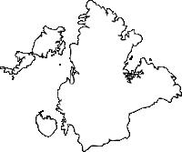 長崎県西海市(さいかいし)の白地図無料ダウンロード