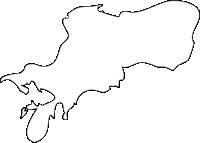 長崎県東彼杵郡川棚町(かわたなちょう)の白地図無料ダウンロード