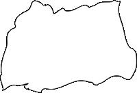 長崎県東彼杵郡波佐見町(はさみちょう)の白地図無料ダウンロード