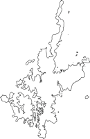 長崎県南松浦郡新上五島町(しんかみごとうちょう)の白地図無料ダウンロード