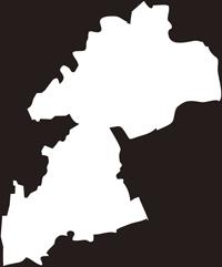 熊本県熊本市(くまもとし)の白地図無料ダウンロード