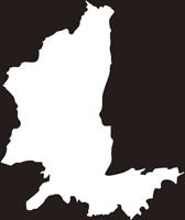 熊本県熊本市北区(きたく)の白地図無料ダウンロード
