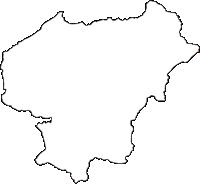 熊本県上益城郡山都町(やまとちょう)の白地図無料ダウンロード