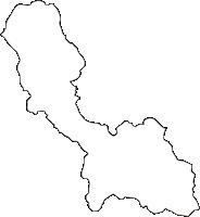 熊本県球磨郡多良木町(たらぎまち)の白地図無料ダウンロード