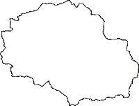 熊本県球磨郡五木村(いつきむら)の白地図無料ダウンロード