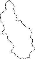 熊本県球磨郡あさぎり町(あさぎりちょう)の白地図無料ダウンロード