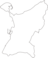 熊本県天草郡苓北町(れいほくまち)の白地図無料ダウンロード