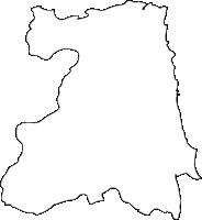 大分県別府市(べっぷし)の白地図無料ダウンロード