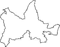大分県杵築市(きつきし)の白地図無料ダウンロード