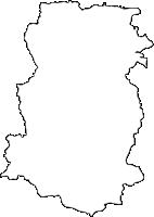 大分県宇佐市(うさし)の白地図無料ダウンロード