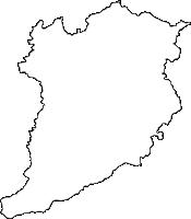 大分県豊後大野市(ぶんごおおのし)の白地図無料ダウンロード