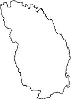 大分県国東市(くにさきし)の白地図無料ダウンロード