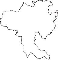 宮崎県都城市(みやこのじょうし)の白地図無料ダウンロード