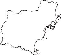 宮崎県延岡市(のべおかし)の白地図無料ダウンロード
