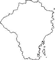 宮崎県日南市(にちなんし)の白地図無料ダウンロード