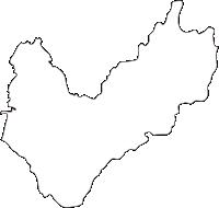宮崎県北諸県郡三股町(みまたちょう)の白地図無料ダウンロード