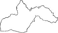 宮崎県西諸県郡高原町(たかはるちょう)の白地図無料ダウンロード