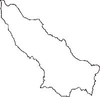 宮崎県東諸県郡綾町(あやちょう)の白地図無料ダウンロード
