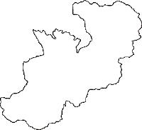 宮崎県東臼杵郡美郷町(みさとちょう)の白地図無料ダウンロード