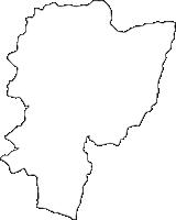 宮崎県西臼杵郡高千穂町(たかちほちょう)の白地図無料ダウンロード