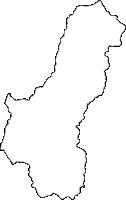 宮崎県西臼杵郡日之影町(ひのかげちょう)の白地図無料ダウンロード
