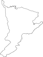 鹿児島県肝属郡肝付町(きもつきちょう)の白地図無料ダウンロード
