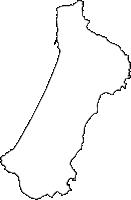 鹿児島県熊毛郡中種子町(なかたねちょう)の白地図無料ダウンロード