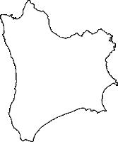 鹿児島県熊毛郡南種子町(みなみたねちょう)の白地図無料ダウンロード