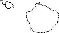 鹿児島県熊毛郡屋久島町(やくしまちょう)の白地図無料ダウンロード
