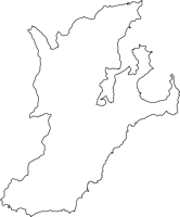 鹿児島県大島郡龍郷町(たつごうちょう)の白地図無料ダウンロード