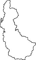 鹿児島県大島郡天城町(あまぎちょう)の白地図無料ダウンロード