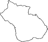 鹿児島県大島郡伊仙町(いせんちょう)の白地図無料ダウンロード