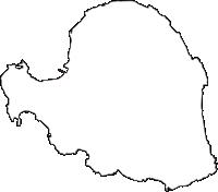 鹿児島県大島郡与論町(よろんちょう)の白地図無料ダウンロード