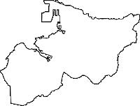 沖縄県那覇市(なはし)の白地図無料ダウンロード