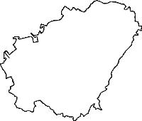 沖縄県宜野湾市(ぎのわんし)の白地図無料ダウンロード