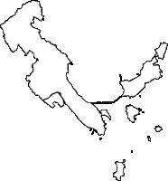 沖縄県うるま市(うるまし)の白地図無料ダウンロード