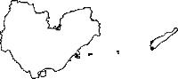 沖縄県南城市(なんじょうし)の白地図無料ダウンロード