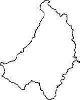 沖縄県国頭郡国頭村(くにがみそん)の白地図無料ダウンロード