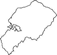 沖縄県国頭郡大宜味村(おおぎみそん)の白地図無料ダウンロード