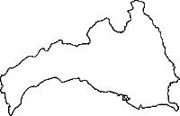 沖縄県国頭郡金武町(きんちょう)の白地図無料ダウンロード