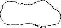 沖縄県国頭郡伊江村(いえそん)の白地図無料ダウンロード