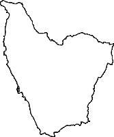 沖縄県中頭郡読谷村(よみたんそん)の白地図無料ダウンロード
