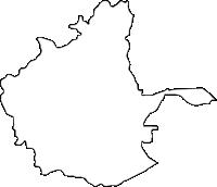 沖縄県中頭郡北中城村(きたなかぐすくそん)の白地図無料ダウンロード