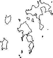 沖縄県島尻郡座間味村(ざまみそん)の白地図無料ダウンロード