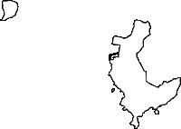 沖縄県島尻郡渡名喜村(となきそん)の白地図無料ダウンロード