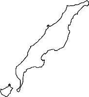 沖縄県島尻郡伊平屋村(いへやそん)の白地図無料ダウンロード