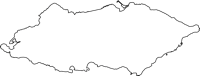 沖縄県八重山郡与那国町(よなぐにちょう)の白地図無料ダウンロード